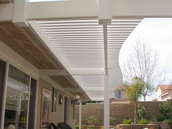 Custom Picket Patio Cover