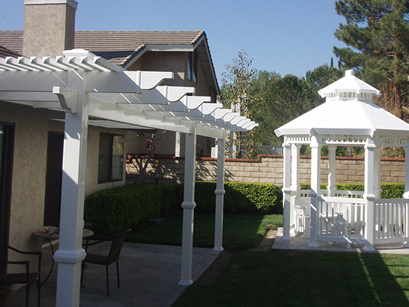 Picket Patio Cover with Gazebo
