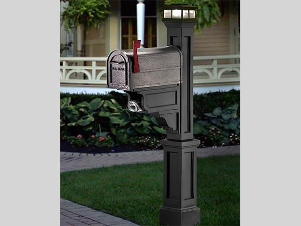 Solar Cap Mailbox Post